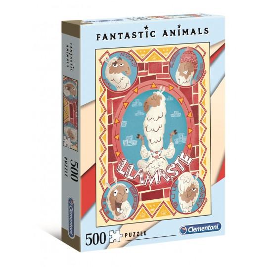 Clementoni Puzzle Fantastic Animals - Llamaste