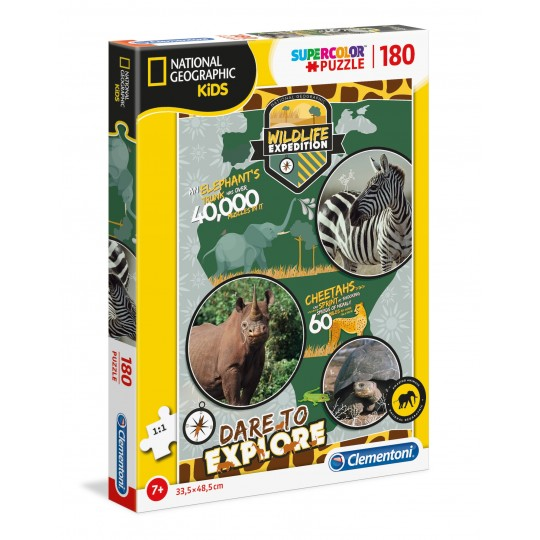 Clementoni Puzzle National Geographic Kids - Wildlife Expedition