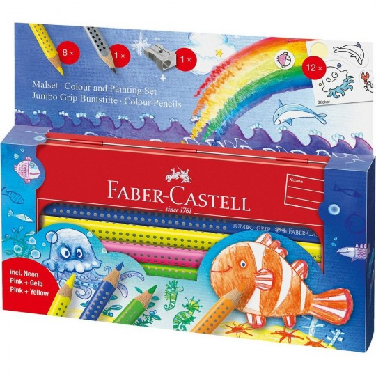 FABER-CASTELL Jumbo Grip Colouring Set