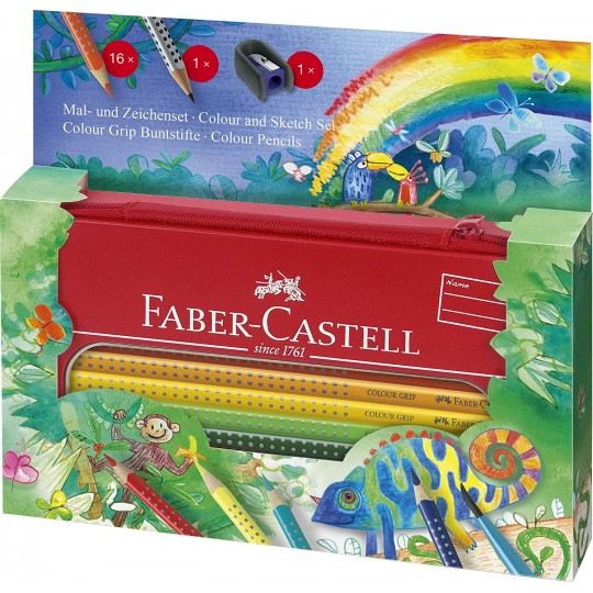 FABER-CASTELL Colour Grip Painting + Drawing Set