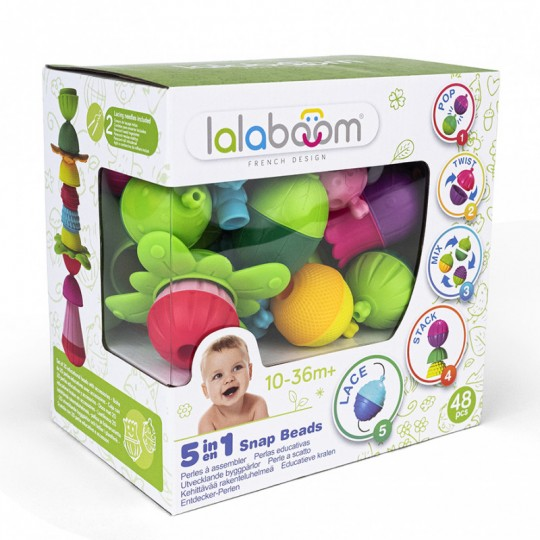 Lalaboom 48 pcs Beads and Accessories