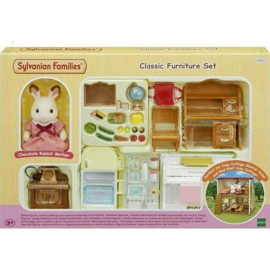Sylvanian Families: Classic Furniture Set (for Red Roof Cosy Cottage Starter Home)