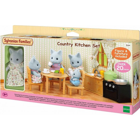 Sylvanian Families: Country Kitchen Set (with Cat Mother)
