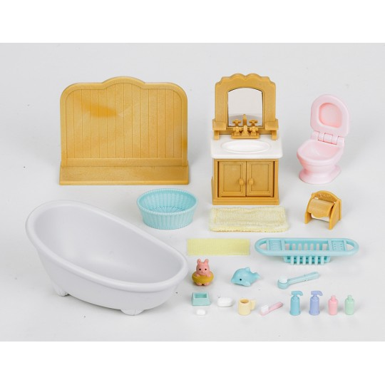 Sylvanian Families: Country Bathroom Set (with Cat Sister)