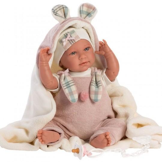 Llorens Doll 42cm - Newborn Crying Mimi with ears blanket