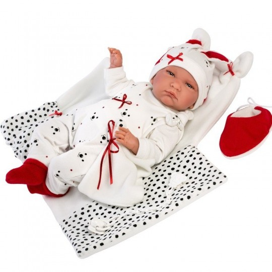 Llorens Doll 42cm - Crying Lalo with changing mat