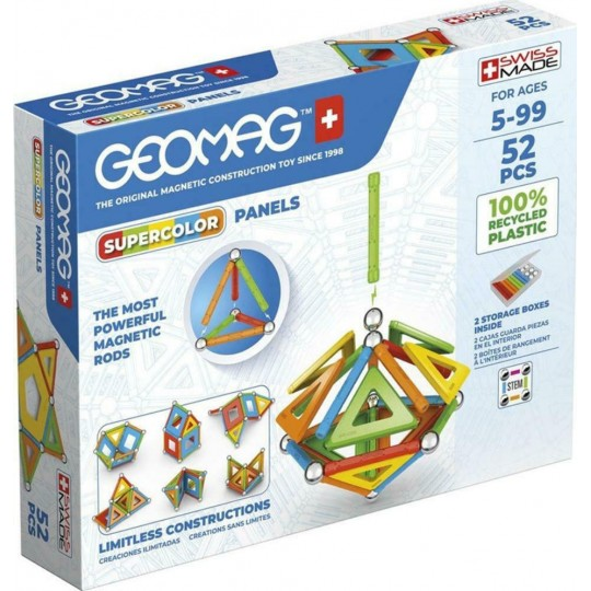 Geomag Supercolor Panels Recycled 52 pcs
