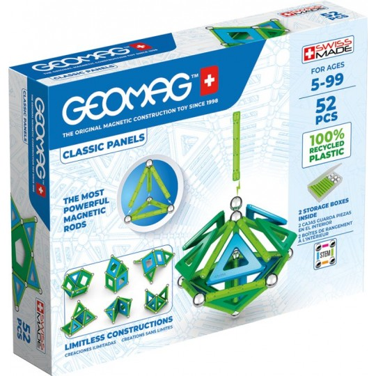 Geomag Classic Panels Recycled 52 pcs