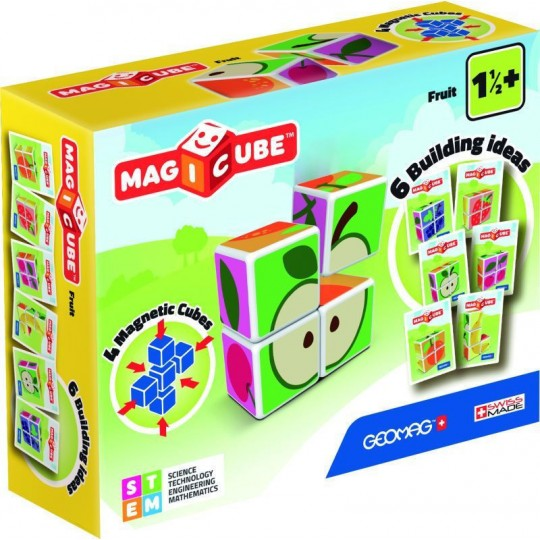 Geomag Magicube Printed Fruits + Cards