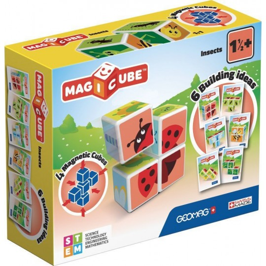 Geomag Magicube Printed Insects + Cards