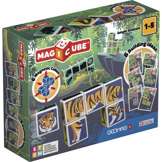 Geomag Magicube Printed Jungle Animals + Cards