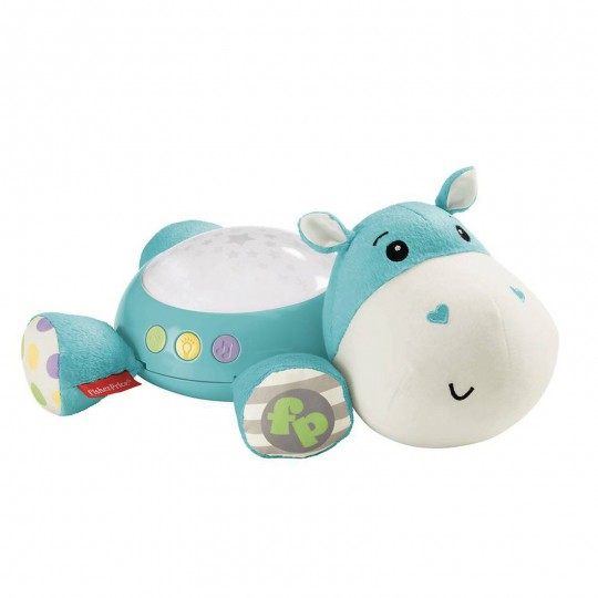 Fisher Price - Hippo Plush Toy Cuddle Projection Soother