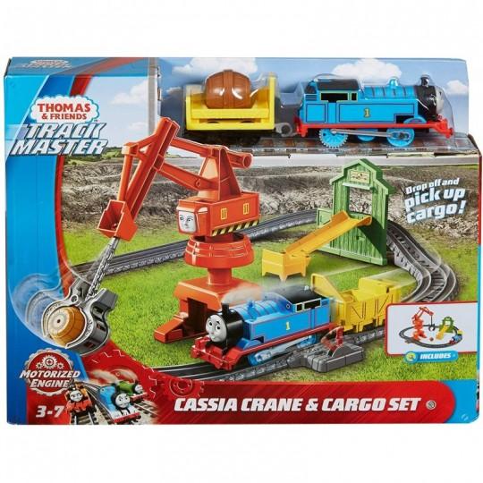 Fisher Price Thomas & Friends: Track Master Motorized Engine - Cassia Crane & Cargo Set