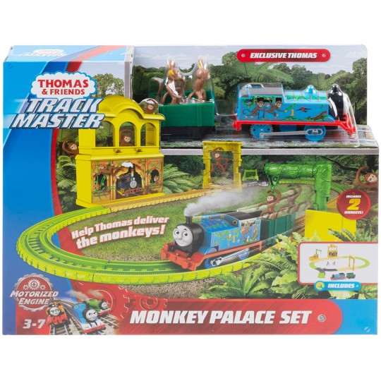 Fisher Price Thomas & Friends Trackmaster: Trains with 2 Wagons - Monkey Palace Set