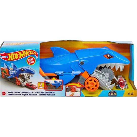 Mattel Hot Wheels City: Shark Chomp Transporter Playset