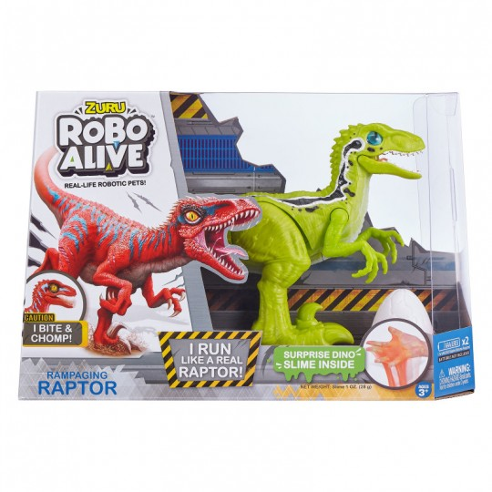 Robo Alive Raptor With Slime Egg
