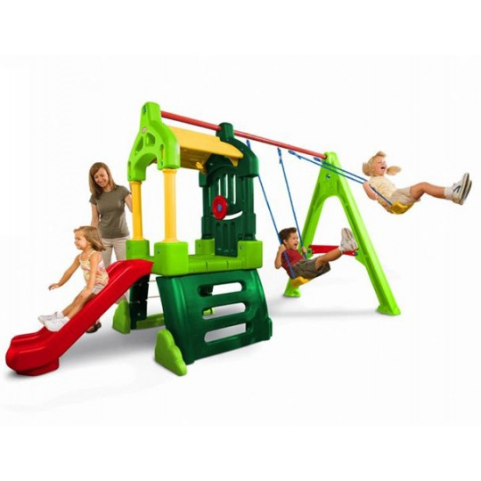 Little Tikes Clubhouse Swing Set (Natural)