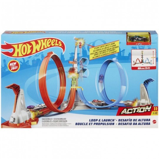 Mattel Hot Wheels: Loop & Launch Playset