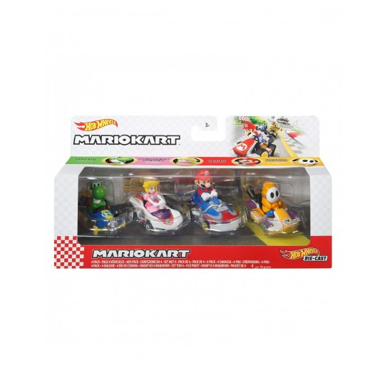 Mattel Hot Wheels: Mario Kart 4 Pack Vehicles