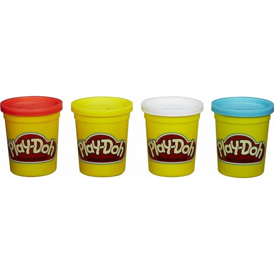 Play-Doh Can with 4 Classic Colors (Red, Blue, Yellow & White)
