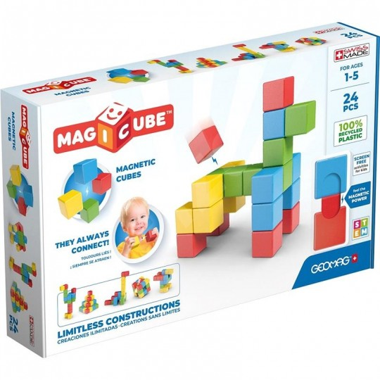 Geomag Magicube Full Color Recycled Try me 24 pcs