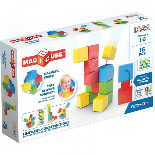 Geomag Magicube Full Color Recycled Try me 16 pcs