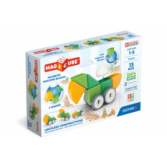 Geomag Magicube 4 Shapes Recycled Wheels 13 pcs