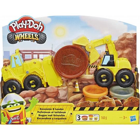 Play-Doh Wheels - Excavator & Loader
