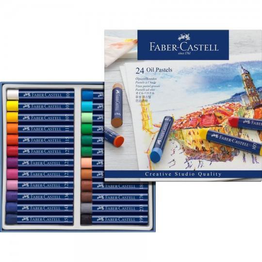 FABER-CASTELL 24 Oil Pastels