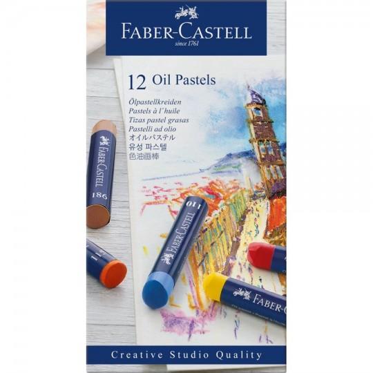 FABER-CASTELL 12 Oil Pastels