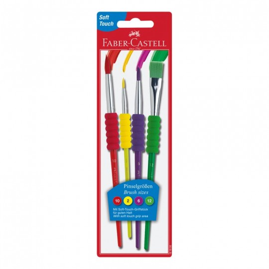 FABER-CASTELL Brushes With Soft Grip
