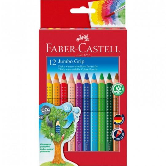 FABER-CASTELL 12 Jumbo Grip Colour Pencils
