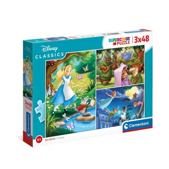 Disney Classic - 3x48 pcs - Super Color Puzzle