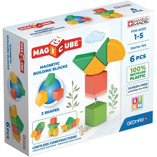 Geomag Magicube 3 Shapes Recycled Starter 6 pcs