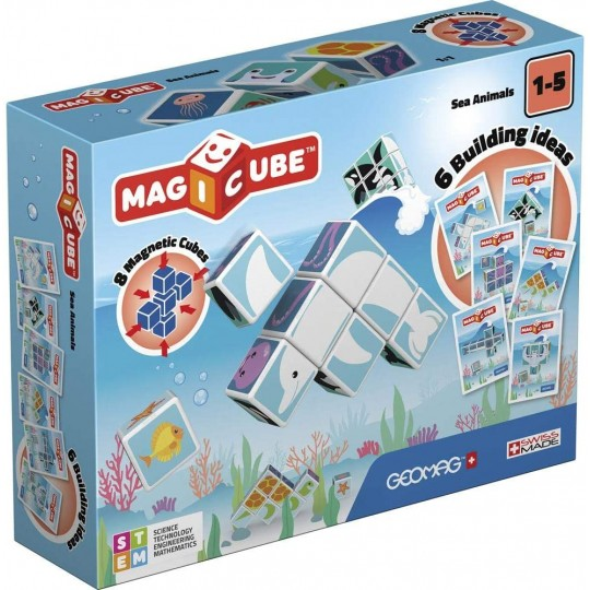 Geomag Magicube Printed Sea Animal + Cards 11 pcs